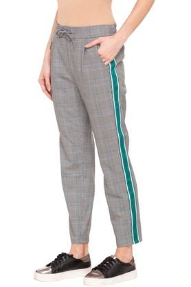 Womens 4 Pocket Checked Pants