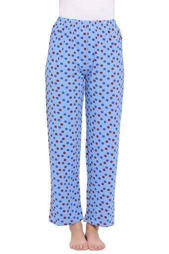 Womens Mid Rise Dot Pattern Pyjama