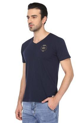 Mens V Neck Solid T-Shirt