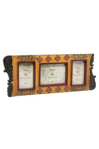 Rectangular Printed Wooden Finish 3 in 1 Photo Frame