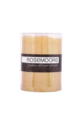 ROSEMOORE Gold Led Real Wax Flameless Candle
