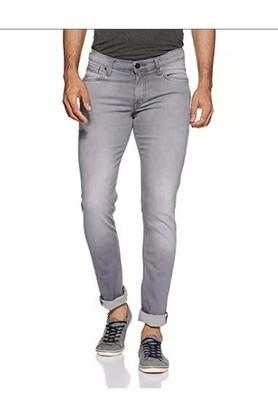 Mens Skinny Fit Ice Wash Jeans