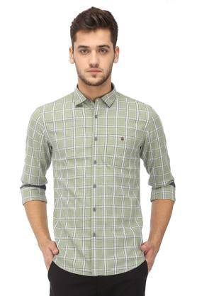 Mens Extra Slim Fit Checked Casual Shirt