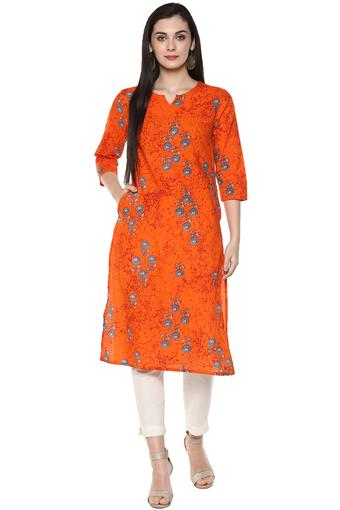 STOP -  Orange Kurtas - Main