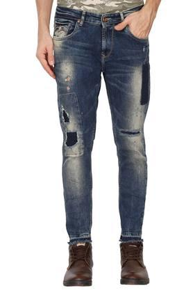 SPYKARMens 5 Pocket Distressed Jeans (Ankle Length Fit)
