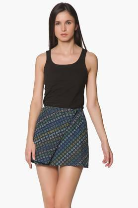 LABEL RITU KUMAR Womens Printed Mini Skirt