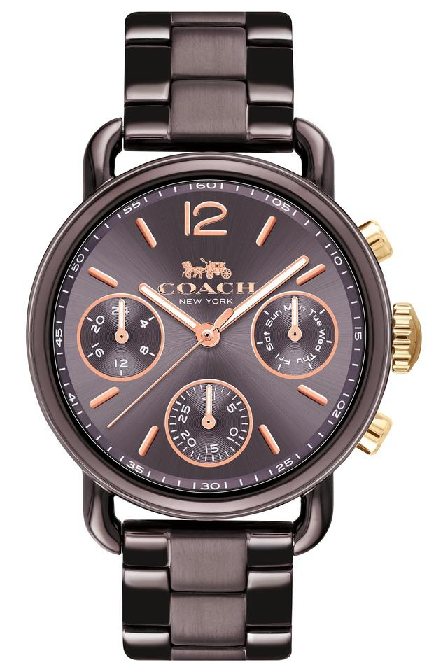Womens Chronograph Delancey Sport Ionic Plated Brown Steel Watch - 14502843
