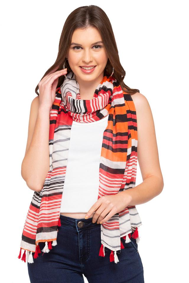 Womens Striped Stole