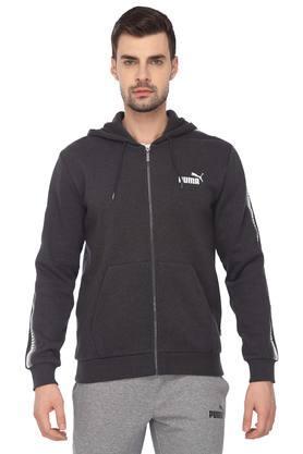 Mens Hooded Slub Jacket