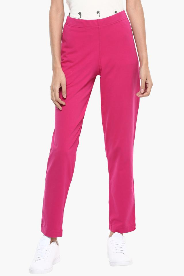Womens Solid Casual Pants