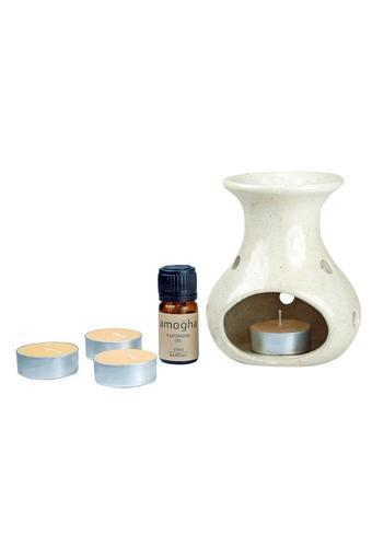 Fragrance Sandal Burner and T-Light Candle Diffuser Set