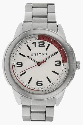TITANMens Octane White Dial Analog Watch - NF1585SM01C