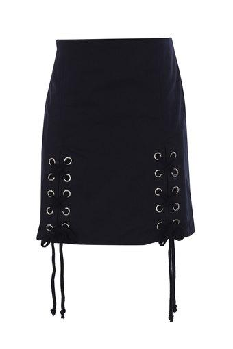Girls Solid Casual Skirt