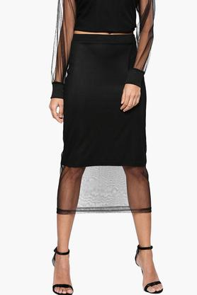 NUSH Womens Solid Casual Skirt