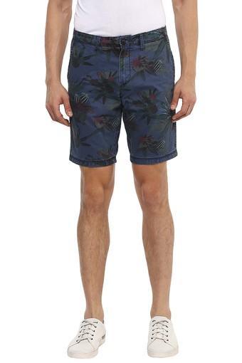 Mens Regular Fit 5 Pocket Printed Shorts