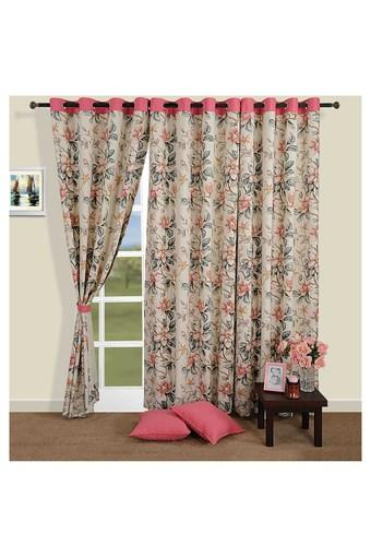 Floral Print Door Curtain
