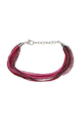 Womens Sliver Plated Beads Bracelet