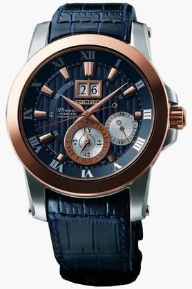 SEIKOMens Premier Analog Blue Dial Watch - SNP126P1