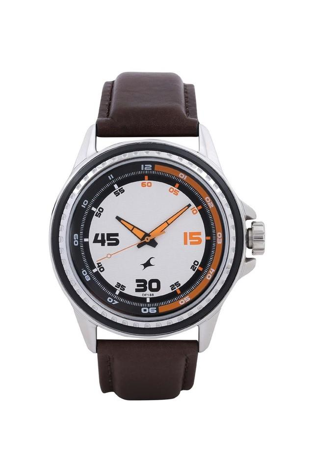 Mens Leather Analogue Watch - NK3142SL02