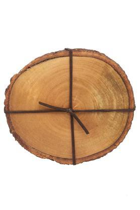 Round Textured Merbau Wooden Coasters Set of 4