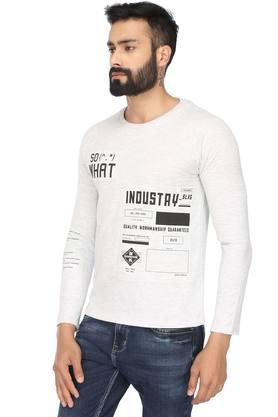 Mens Round Neck Printed Sweatshirt
