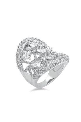 Womens Silver Plated Ring