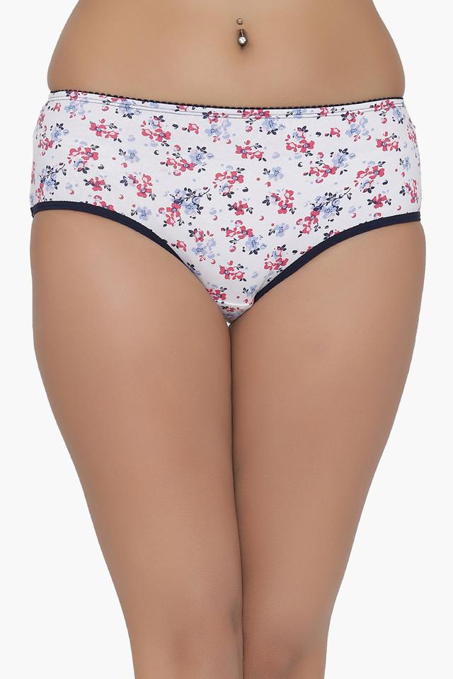 Womens Floral Print Hipster Briefs