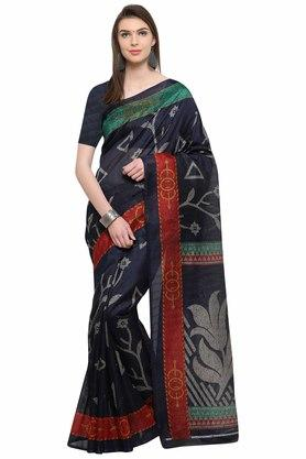 RACHNA Womens Bhagalpuri Printed Saree With Blouse