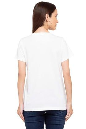 Womens Round Neck Printed T-Shirt