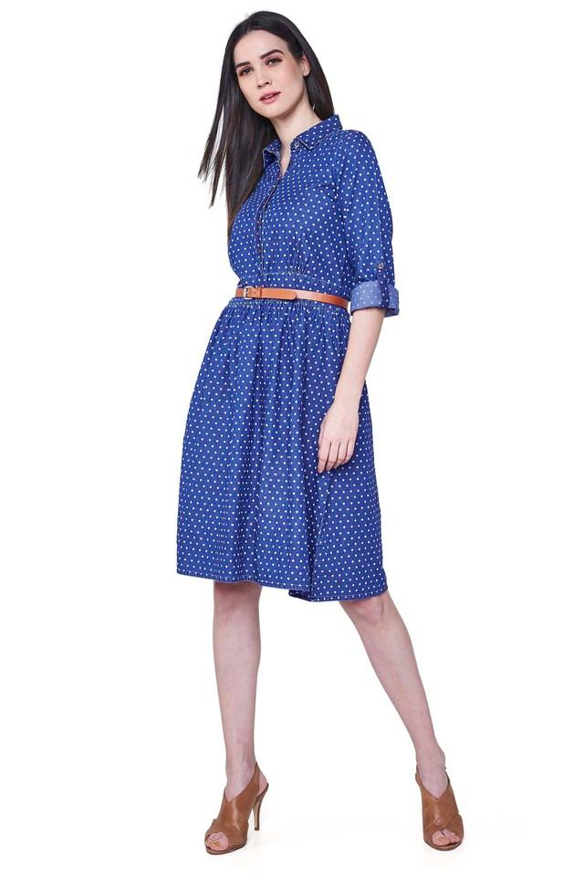 Womens Polka Dots Knee Length Dress