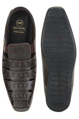 Mens Leather Slipon Sandals