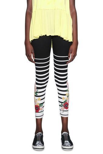 Womens Printed Cropped Leggings