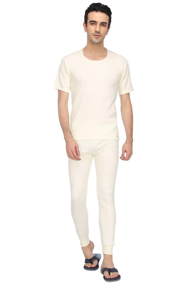 Mens Solid Thermal Pants