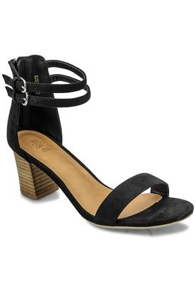 TRESMODE Womens Party Wear Buckle Closure Heels