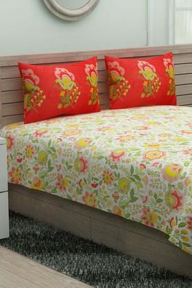 X IVY Floral Double Bedsheet ...