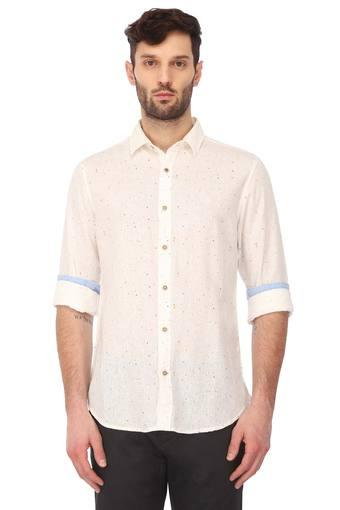 UNITED COLORS OF BENETTON -  Off White Shirts - Main