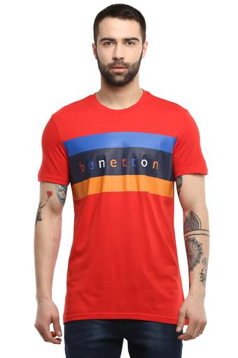 UNITED COLORS OF BENETTON -  Red T-shirts - Main