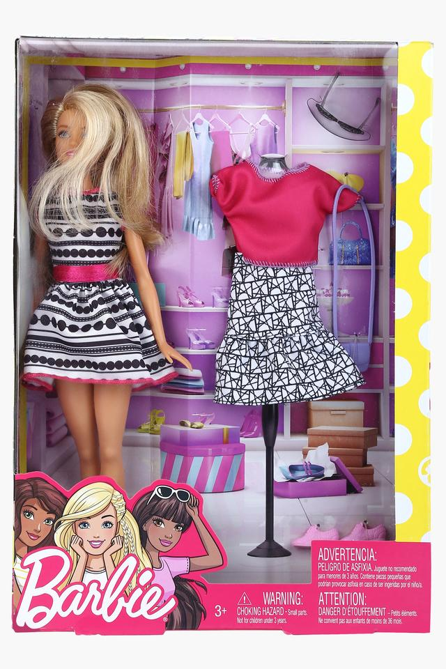 Girls Doll With Clothes and Shoes Set