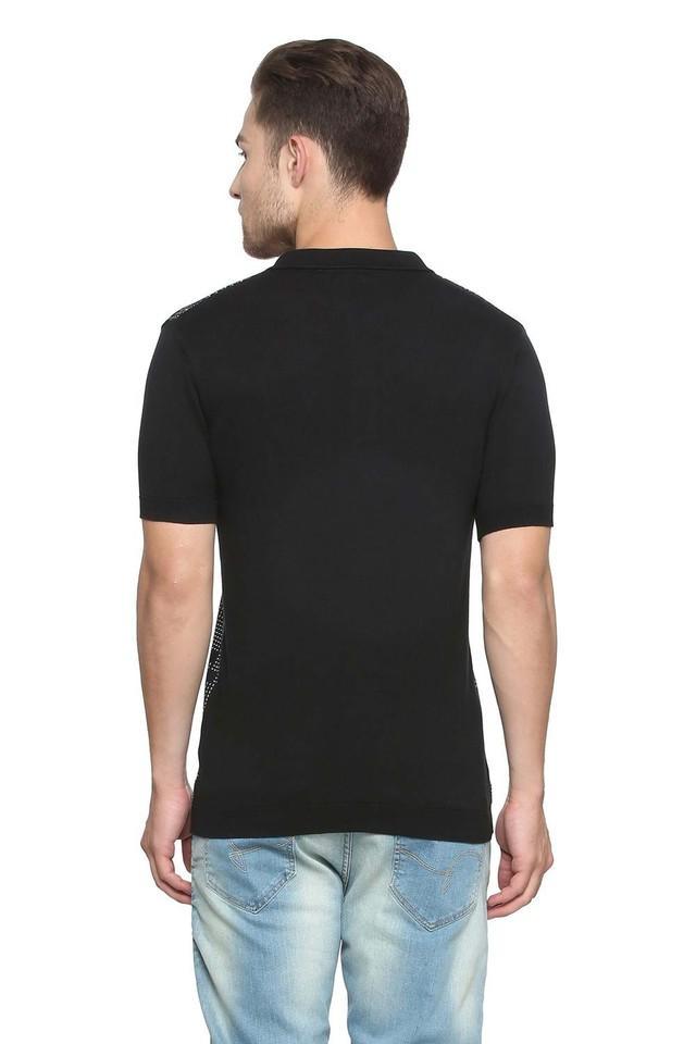 Mens Regular Fit Printed Polo T-Shirt