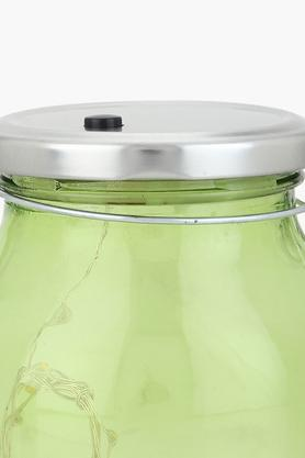 Round Jar with LED Tight with Hanging Loop