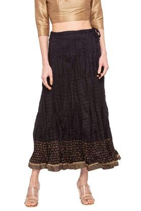 BIBA Womens Printed Flared Long Skirt - 203041682