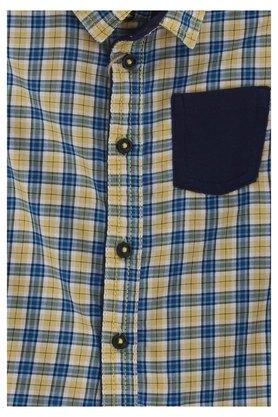 Kids Collared Checked Casual Shirt