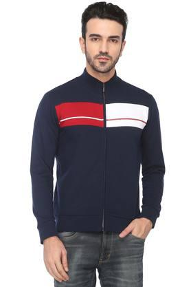ARROW SPORT Mens Zip Through Neck Colour Block Sweatshirt