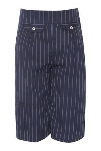 Girls 2 Pocket Striped Culottes