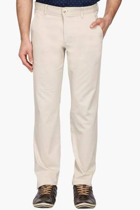 LOUIS PHILIPPE SPORTS Mens 4 Pocket Solid Chinos - 203032879
