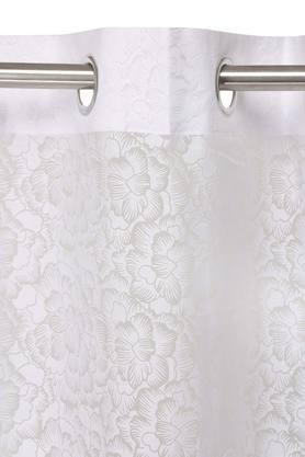 Floral Printed Sheer Window Curtain