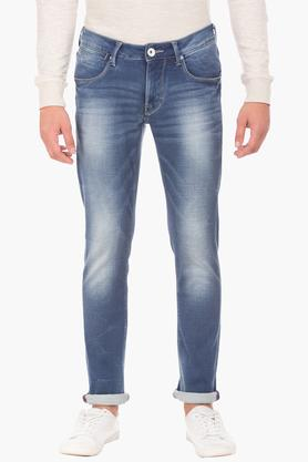 FLYING MACHINE Mens Skinny Fit Heavy Wash Jeans (Jackson Fit) - 202896828