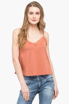 Womens V Neck Solid Camisole