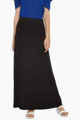 LATIN QUARTERS Womens Solid Long Skirt