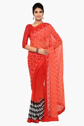DEMARCA Womens Faux Georgette Printed Saree - 203231055